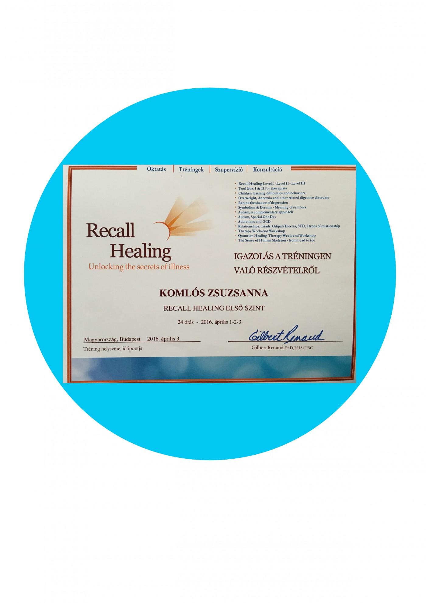 Recall Healing 1