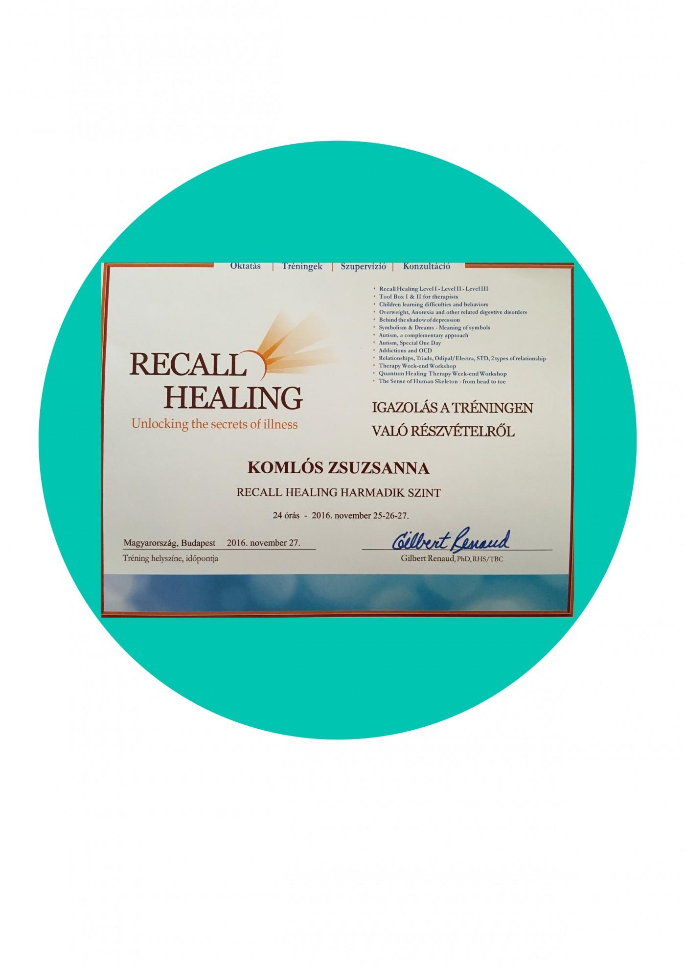 Recall Healing 3